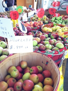 Apples on display