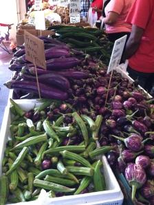 Eggplant and Okra