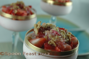 Strawberry Rhubarb Oatmeal Hemp Seed Crisp