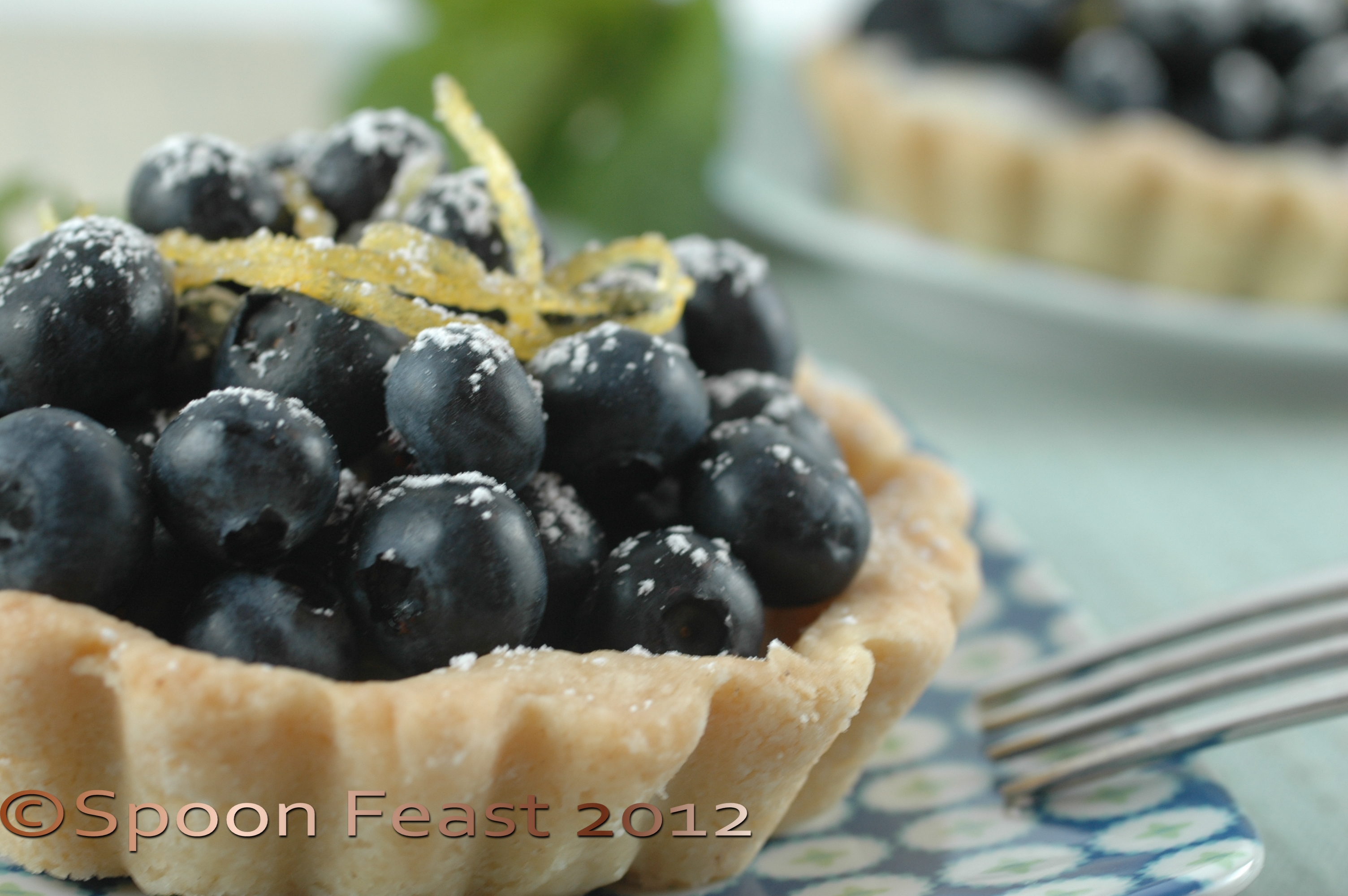 Blueberry and Lemon Tart | Spoon Feast