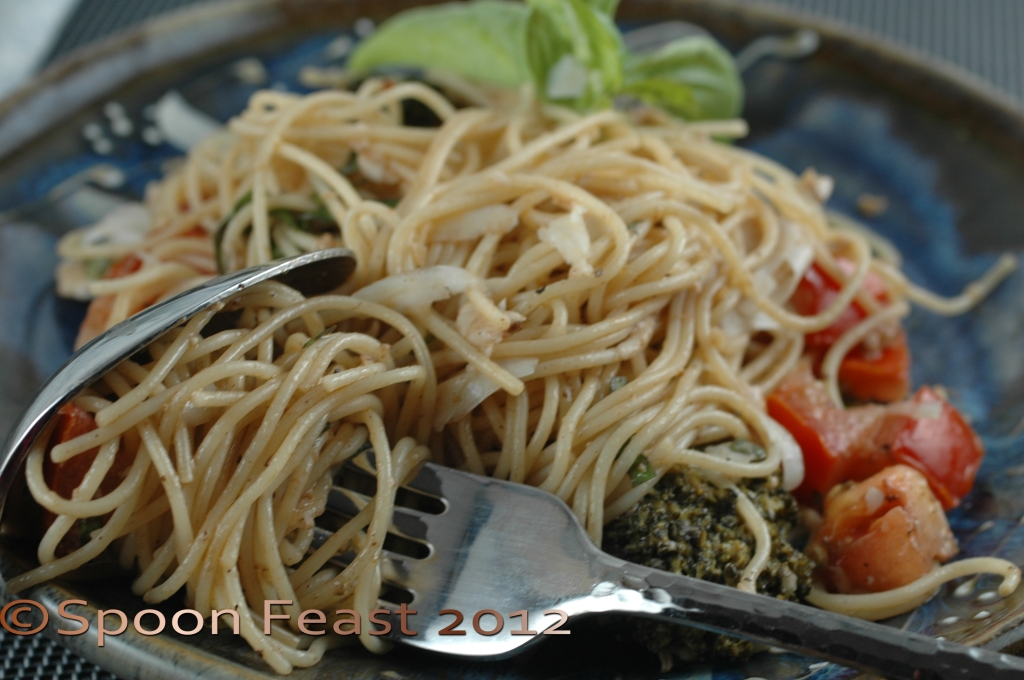 Angel Hair Pasta With Tomatoes Basil And Broccoli