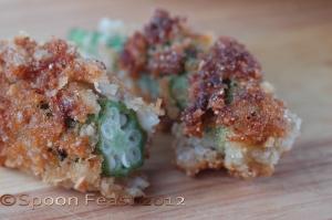 Pecan Crusted Okra