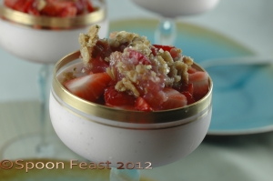 Strawberry Cheesecake rhubarb compote