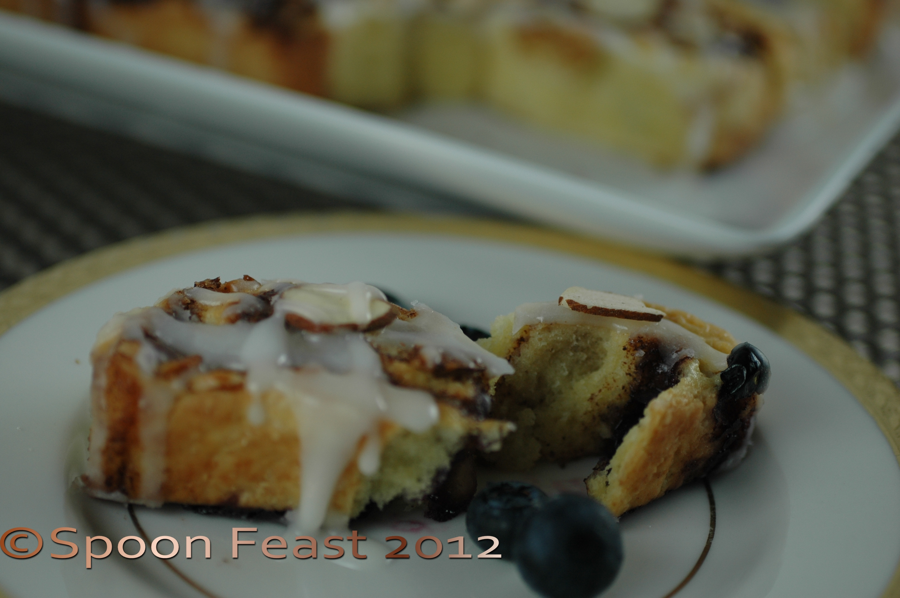 Cinnamon Blueberry Almond Scones | Spoon Feast