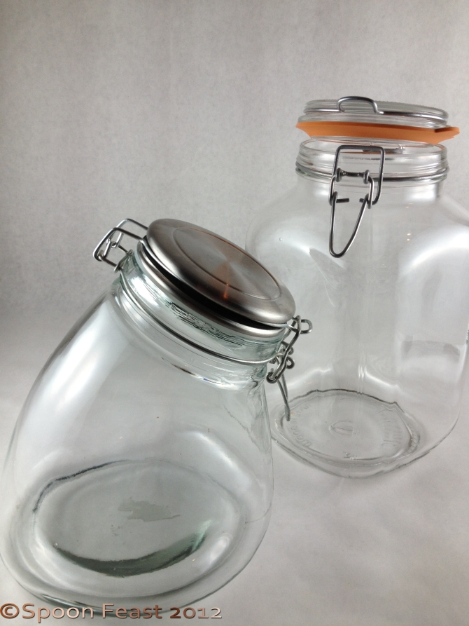 Pickling Jars with wire bales and silicone or rubber seals