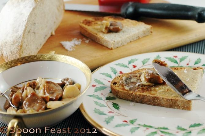 Garlic confit on toast