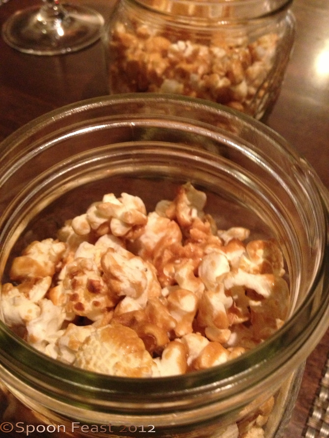 House made caramel corn
