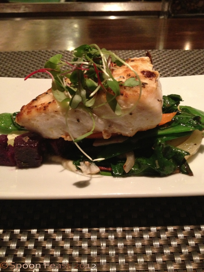 Another view of the Corn Crusted Grouper