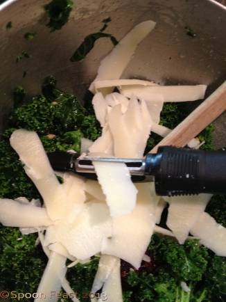 Peel Parmesan into the salad with a peeler.