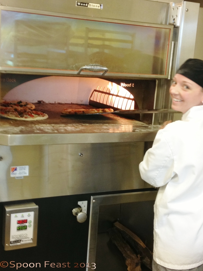 The Woodstone Pizza Oven. Students have a blast using it!