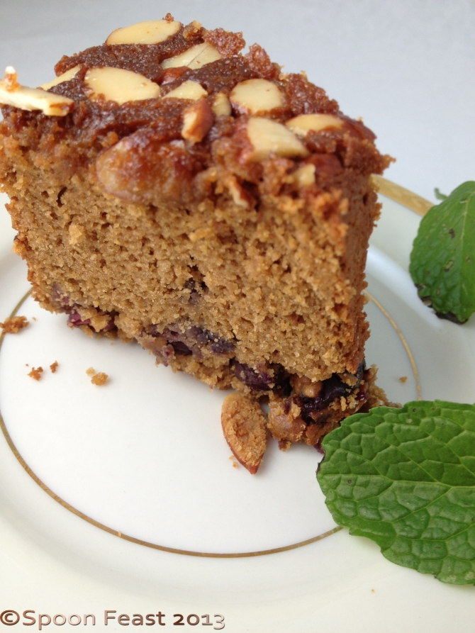 Chestnut cake with honey glaze