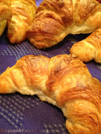 Freshly made croissants