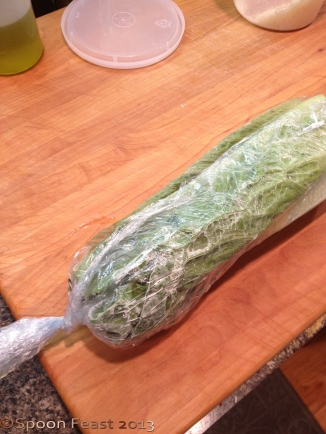 Wrap tightly into a log shape