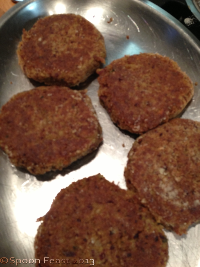 Delicious Cooked Bean Burgers