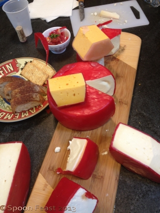 These are the cheeses that everyone brought for the evaluation session