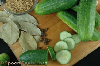 Slicing cucumbers for Sweet Pickle Chips