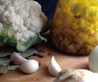 Fresh and Pickled cauliflower
