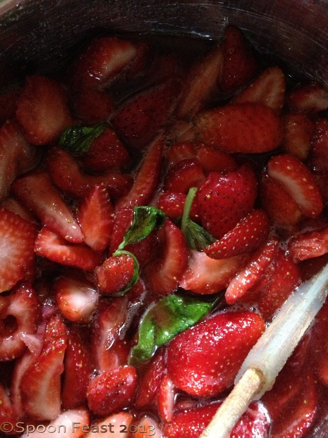 Strawberries and basil