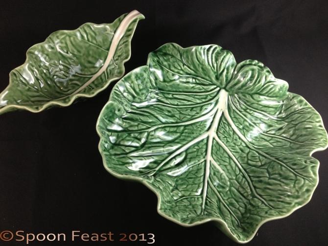 Cabbage Leaf bowl and Sauce Server