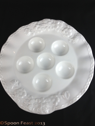 Plain egg plate, concave or convex? Do you see indents or domes?