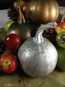 Silver Painted Pumpkin
