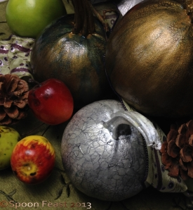 Part of the Painted Pumpkin arrangement