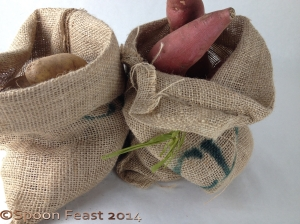 Burlap potato sacs