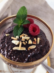 Chocolate Chia Seed Pudding with Toasted Almonds