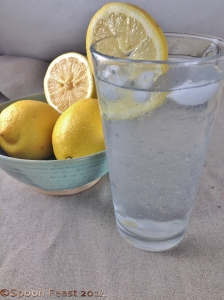 Drink several glasses of lemon water each day