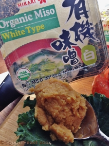 A spoonful of organic white miso