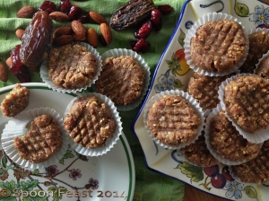 "Raw Almond Date Cranberry Cookies  Rather than ""raw"" let's call them ""No Bake"""
