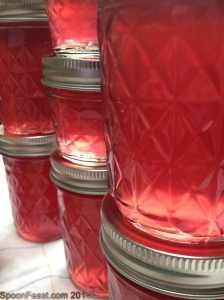Gleaming jars of Wild Violet Jelly