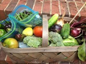 Garden Fresh Vegetables on the doorstep!