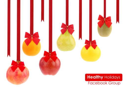 Happy Healthy Holidays fb group banner