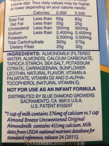 Almond Milk Label